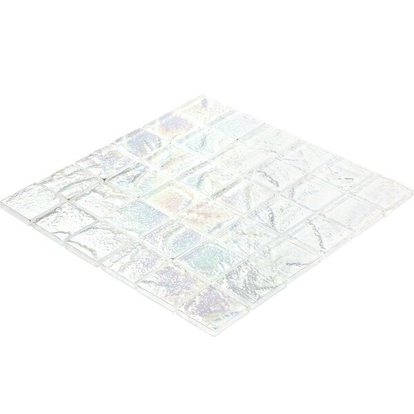 Marina 2 x 2 Glass Mosaic Tile in White by Splashback Tile