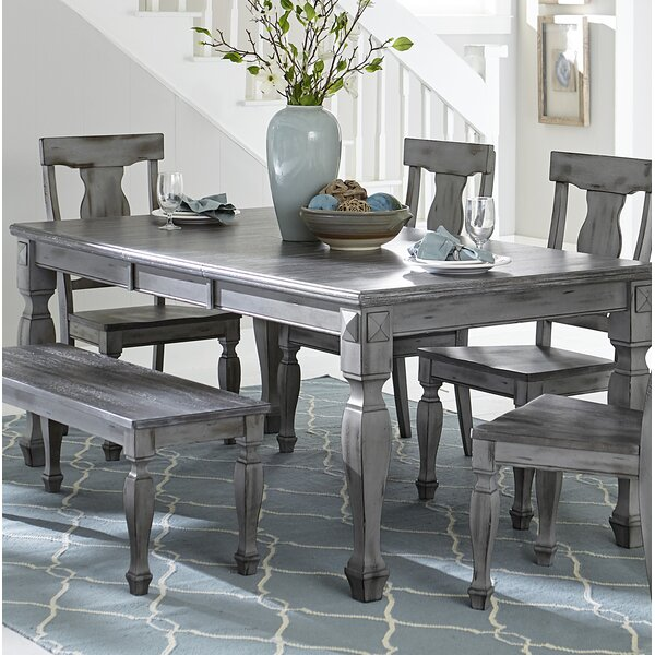 Julianna Extendable Solid Wood Dining Table by One Allium Way