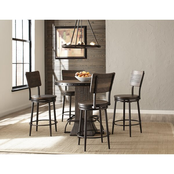 gracie oaks cathie 5 piece round counter height dining set reviews