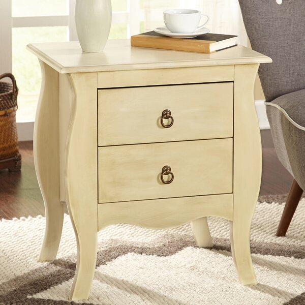 Madsen 2 Drawer End Table by Ophelia & Co.