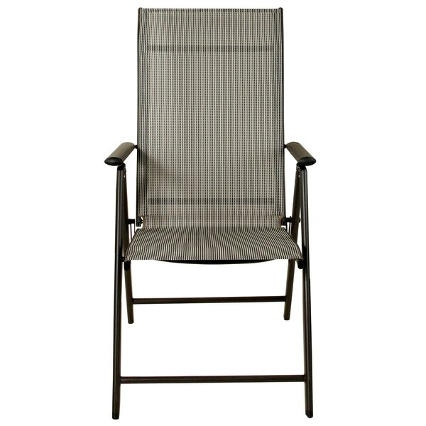 Alessa Reclining Folding Patio Dining Chair by Winston Porter