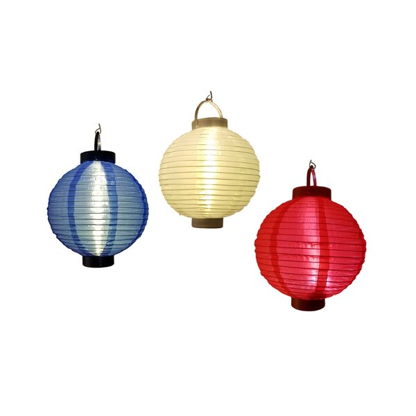3 Patriotic LED Operated Lanterns (Set of 3) by The Holiday Aisle