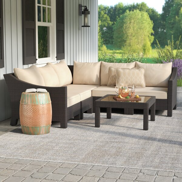 Coast 6 Piece Rattan Sectional Seating Group With Cushions By Sol 72 Outdoor by Sol 72 Outdoor New
