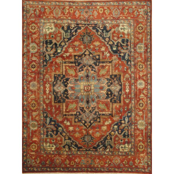 Serapi Indo Hand-Knotted Wool Rust Area Rug by Pasargad NY