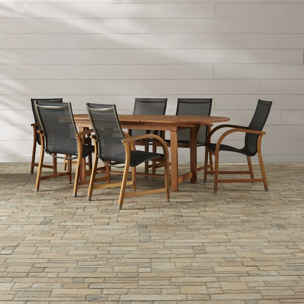 Ely 7 Piece Dining Set by Beachcrest Home