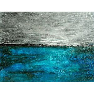 Aqua Pose' by AX Painting on Wrapped Canvas by Art Excuse