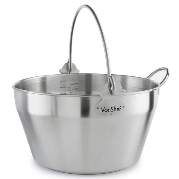 8-qt. Maslin Pan by VonShef