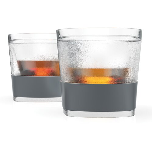 Whiskey Freeze Plastic Cocktail Glass (Set of 2) by HOST