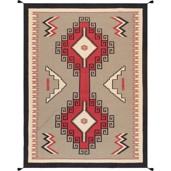Kilim Hand-Woven Wool Brown/Red Area Rug by Pasargad