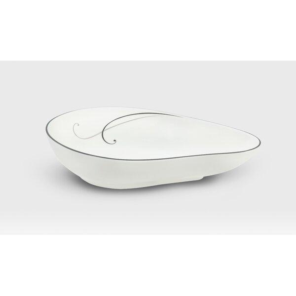 Platinum Teardrop Platter by Noritake