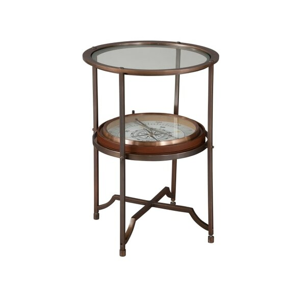 Sykes Compass End Table by Astoria Grand