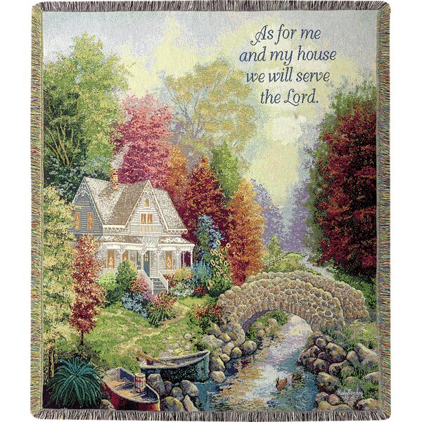 Autumn Tranquility Tapestry Cotton Throw by Manual Woodworkers & Weavers