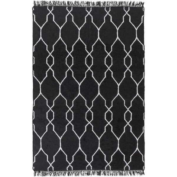 Larksville Hand-Woven Black Outdoor Area Rug by Charlton Home