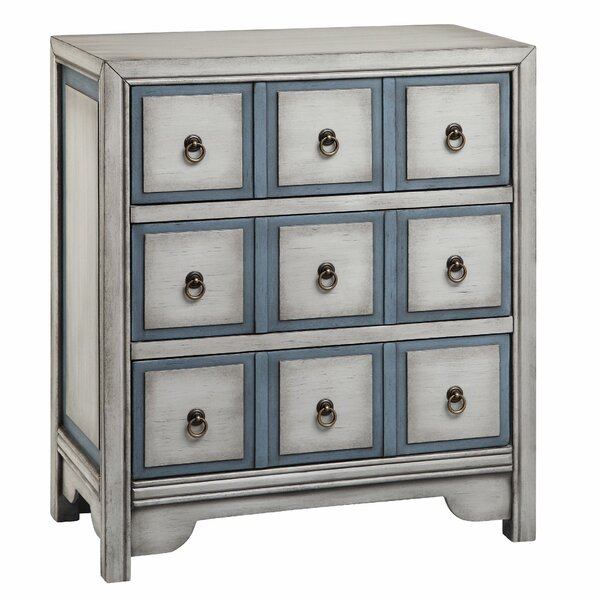Thirsk 3 Drawer Apothecary Accent Chest