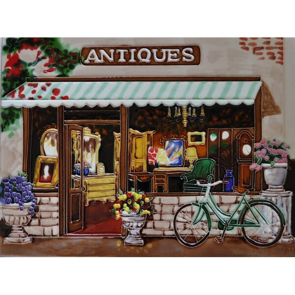 Antique Shop Tile Wall Decor by Continental Art Center