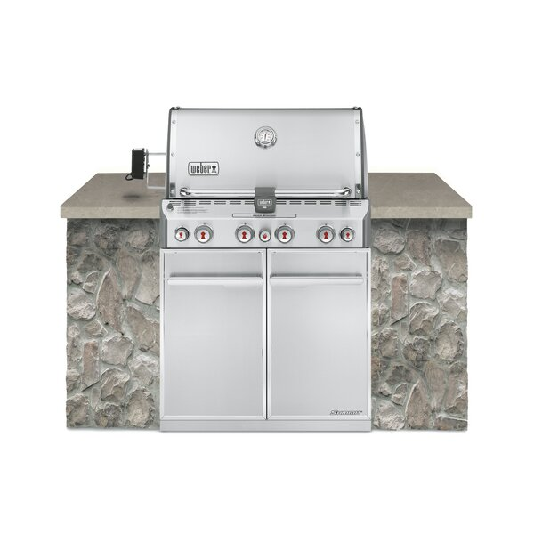 Summit® S-460 4-Burner Built-In Natural Gas Grill with Smoker by Weber