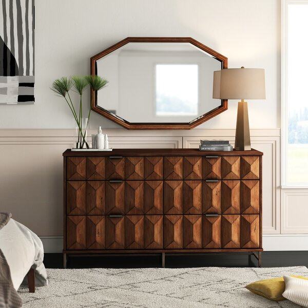 Mccaskill 6 Drawer Combo Dresser with Mirror by Mercury Row