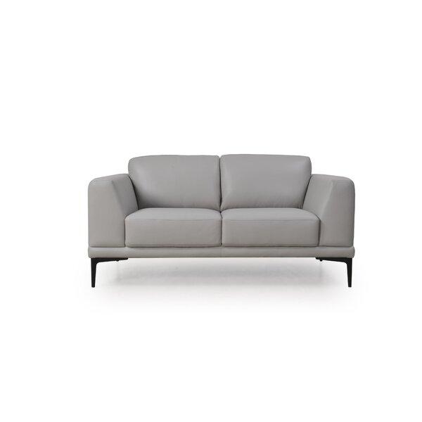 Patio Furniture Joachim Leather Loveseat