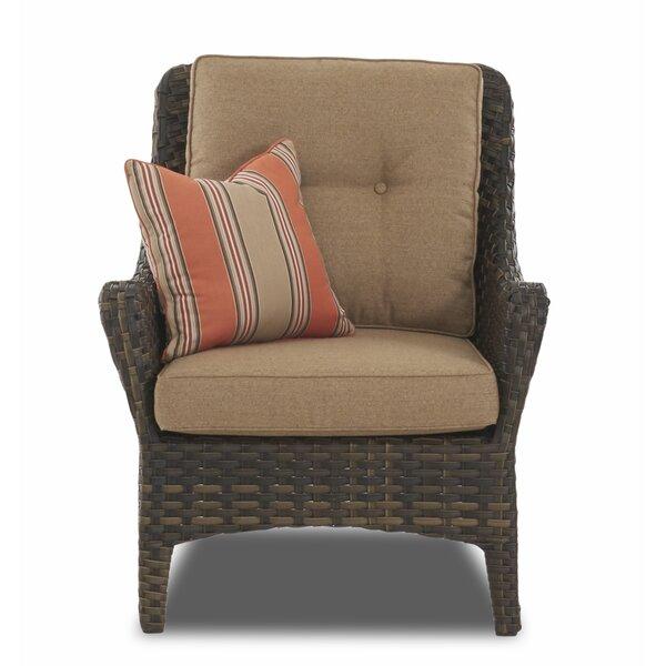 Rouse Patio Chair with Cushion by Fleur De Lis Living
