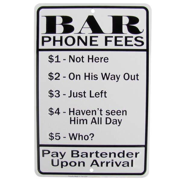 Man Cave Garage Bar Wall Decor THREE KINDS of SERVICE *US MADE* Embossed Sign