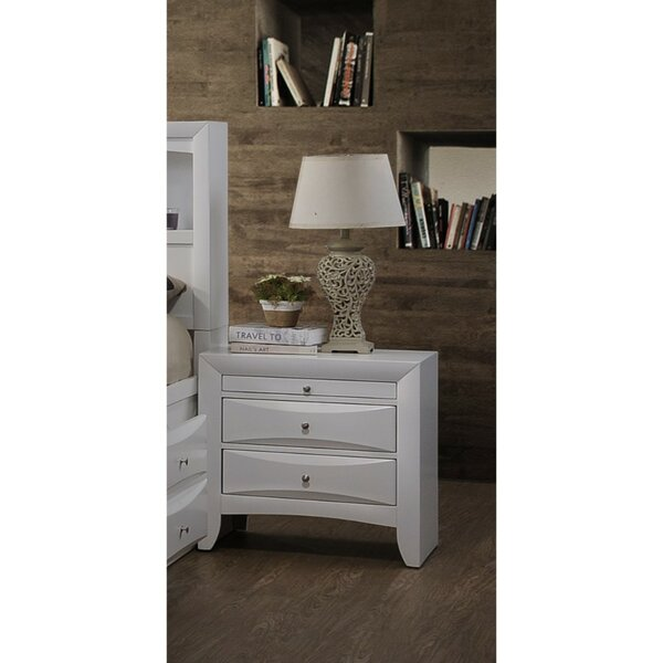 Oleana Elegant 2 Drawer Nightstand by Latitude Run