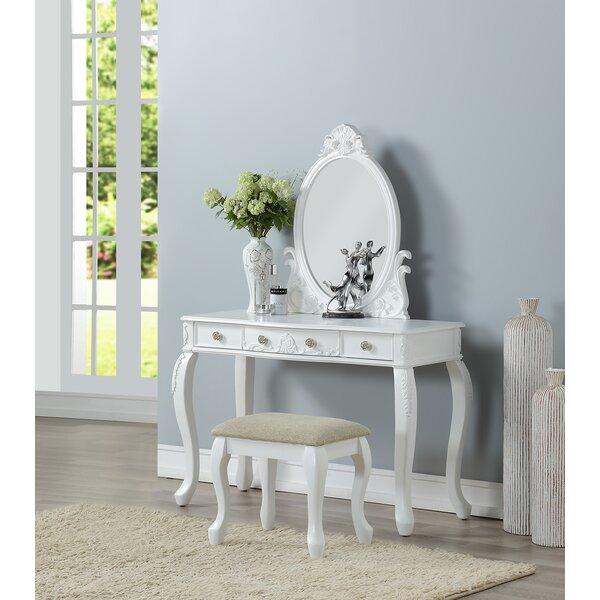 Caden Vanity Set with Mirror by Astoria Grand