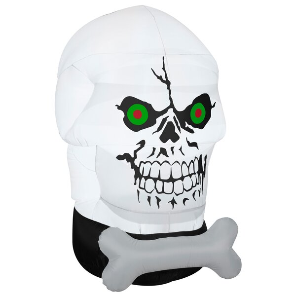 Airblown Halloween Inflatable Gotham Skull Decoration by The Holiday Aisle