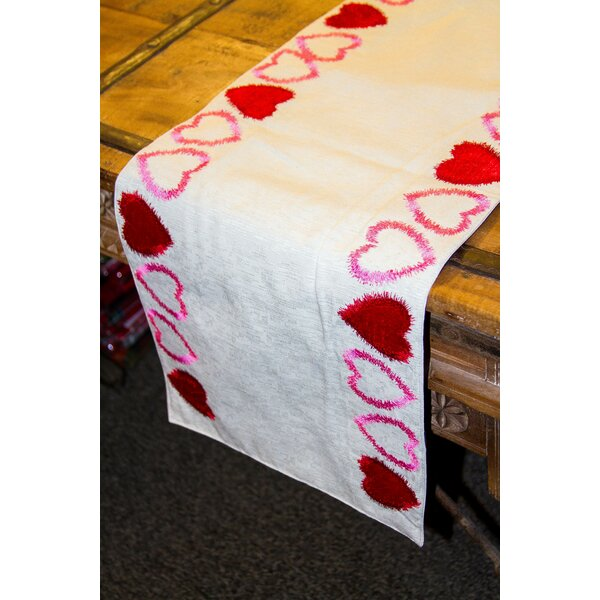 Dowdle Heart Cotton/Polyester Table Runner by The Holiday Aisle