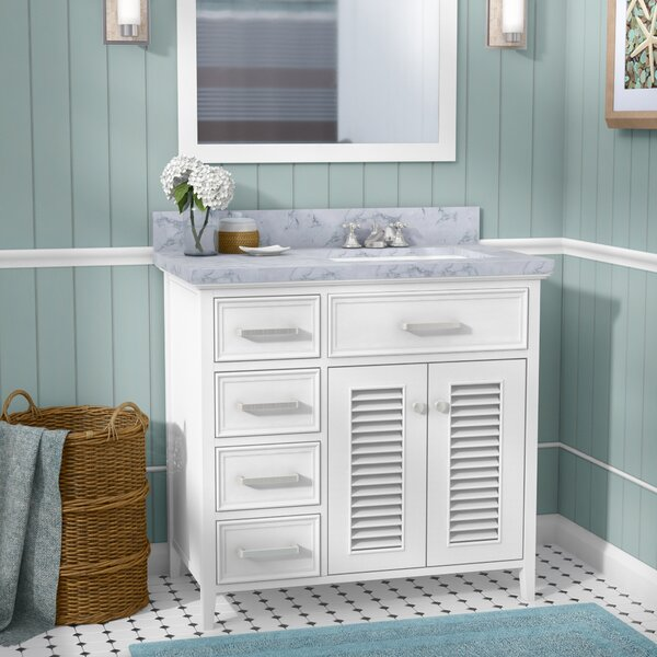 Hamil Right Offset 37 Single Bathroom Vanity with Mirror by Highland Dunes