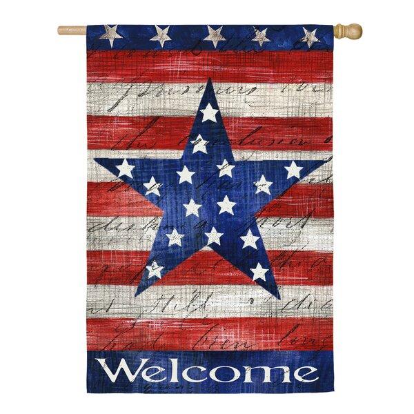 Patriotic Strip & Star Vertical Flag by Evergreen