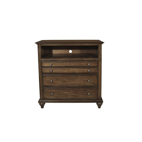Deals Price Van Buren 4 Drawer Media Chest