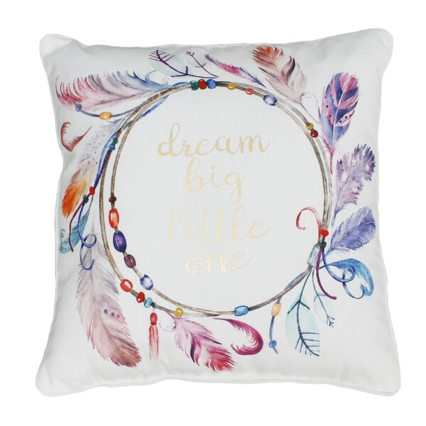 Atherton Dream Big Printed Throw Pillow by Harriet Bee
