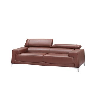 Best #1 Tipton Modern Saddle Leather Sofa Brayden Studio