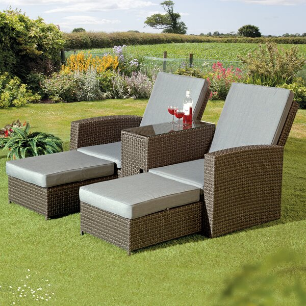 Crader Patio Chair with Cushions by Red Barrel Studio Red Barrel Studio