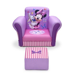 Minnie Mouse Upholstered Kids Club Chair And Ottoman