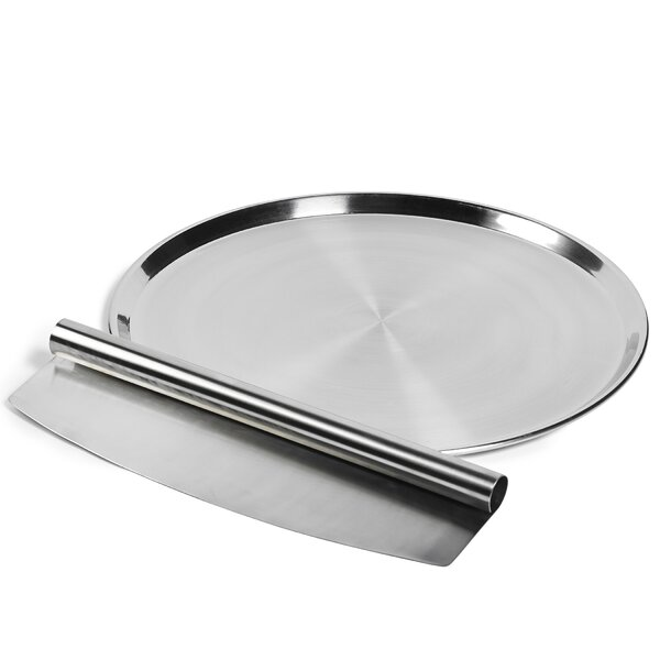 2 Piece Stainless Steel Pizza Set by Denmark