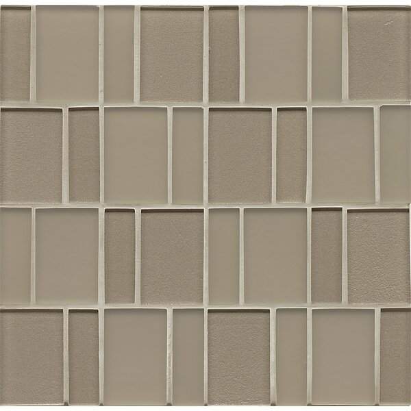 Contempo Glass 12 x 12.5 Mosaic Tile in Gold by Grayson Martin