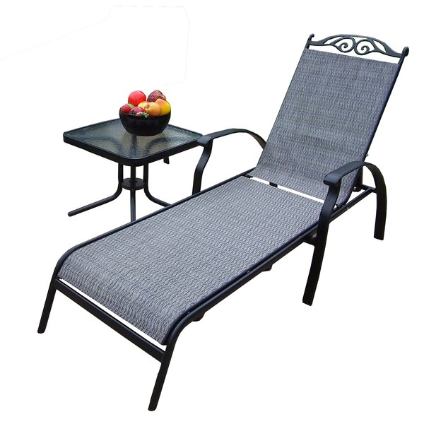 Basile 2 Piece Chaise Lounge Set with Table