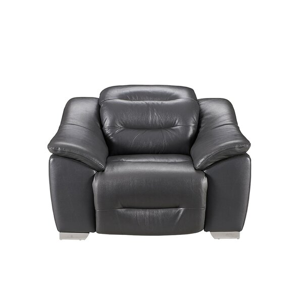 Pippin Leather Power Recliner By Orren Ellis