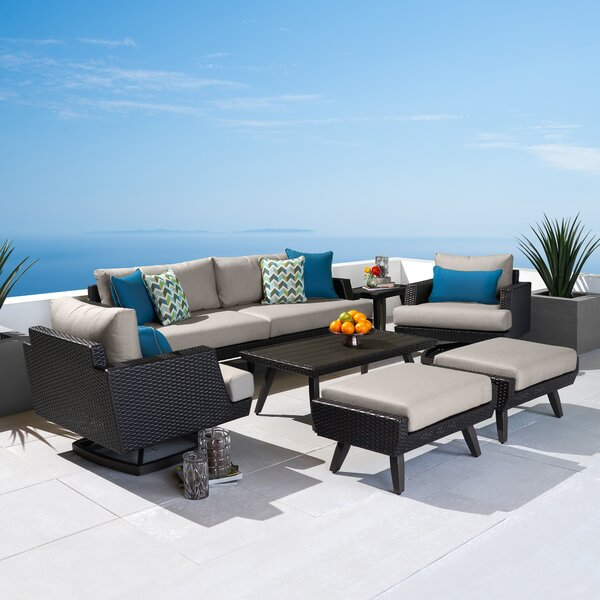 Manhart Casual 7 Piece Sunbrella Sofa Seating Group with Cushions by Highland Dunes