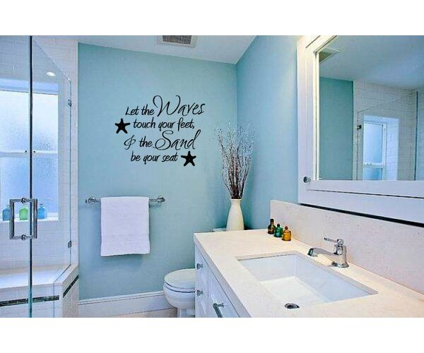 Let the Waves Touch Your Feet and the Sand Be Your Seat Wall Decal by Rosecliff Heights