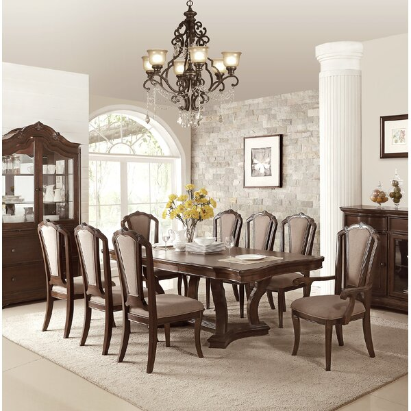 Eastbourne 9 Piece Drop Leaf Dining Set by Canora Grey