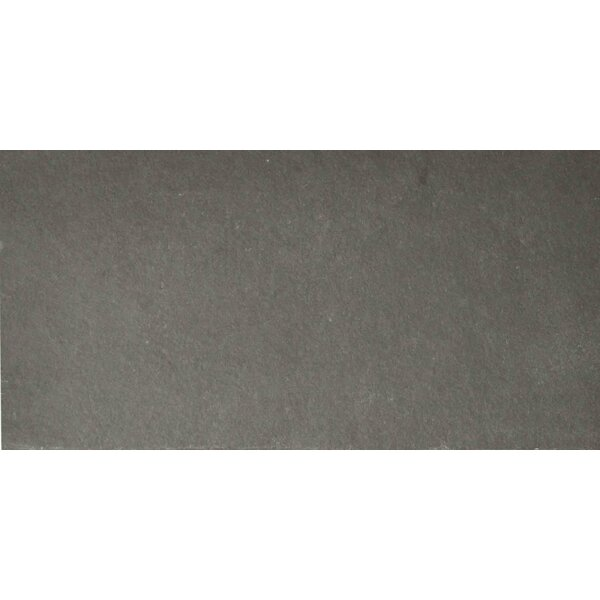 Pewter 6 x 12 Slate Field Tile in Gray by The Bella Collection