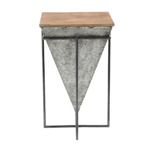 Arie Modern Inverted Pyramid Iron and Wood E..