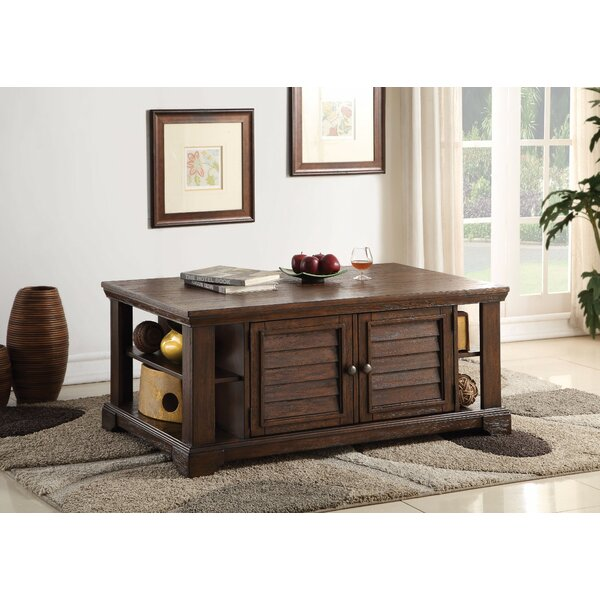 Chang Lovely Coffee Table with Storage by Longshore Tides Longshore Tides