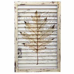 Malone Maple Leaf Window Shutter Wall Decor
