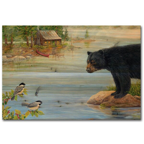 Misty Morning Encounter by Carol Decker Painting Print Plaque by WGI-GALLERY