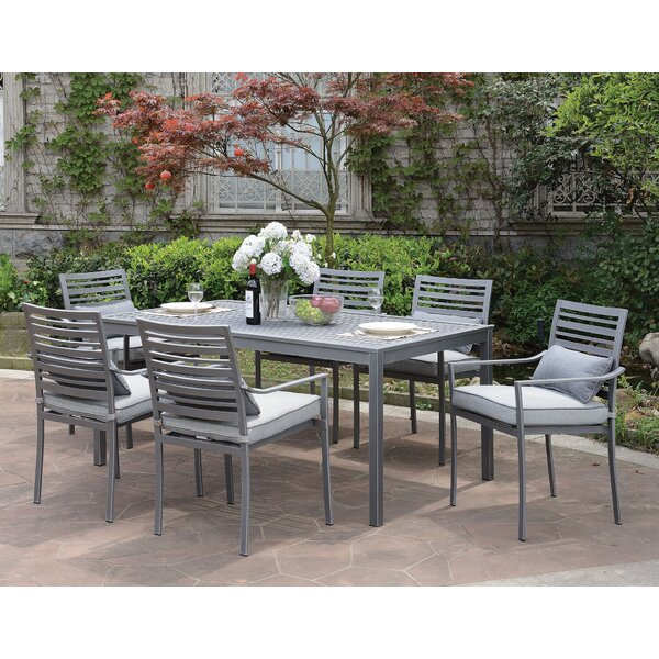 Alvah 7 Piece Dining Set with Cushions by Wrought Studio