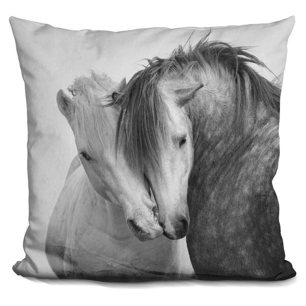 Holguin Horse Throw Pillow by Wrought Studio