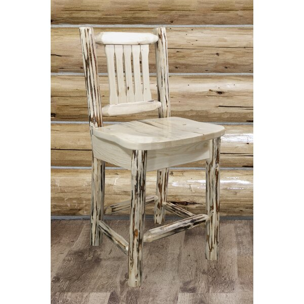 Abordale 30 Rustic Bar Stool by Loon Peak